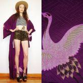 purple haze crane kimono wrap