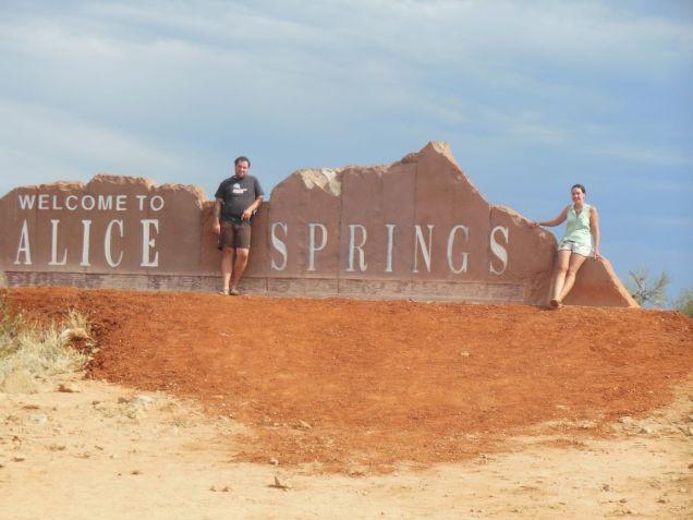 Alice Springs Eingangsschild