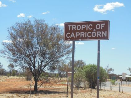 Tropic of Capricorn Schild