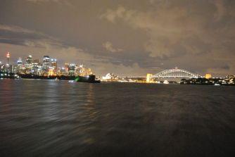 Skyline Sydney bei Nacht