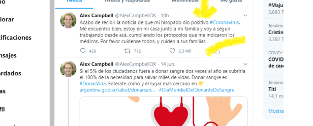 Alex Campbell con COVID-19 INTERNA 1