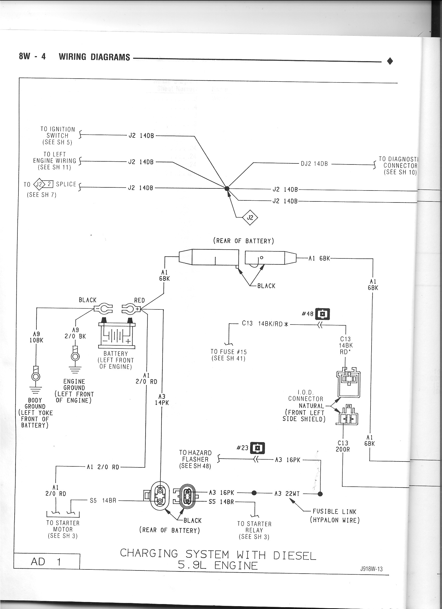 dodge dakota alternator wiring diagram color coded automotive diagrams library