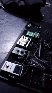 Troy Sanders' pedalboard...peep the signature fuzz!