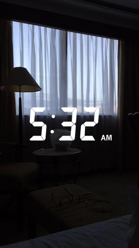 5 am wake up