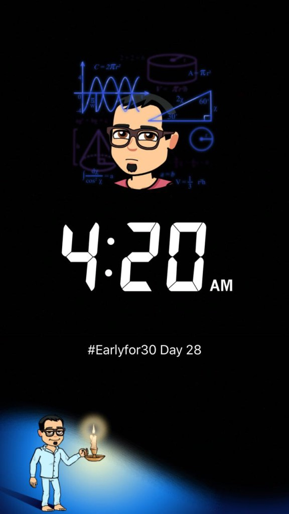 Day 28 Early Riser Challenge