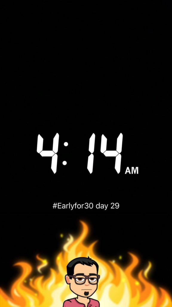 Early Riser for 30 days