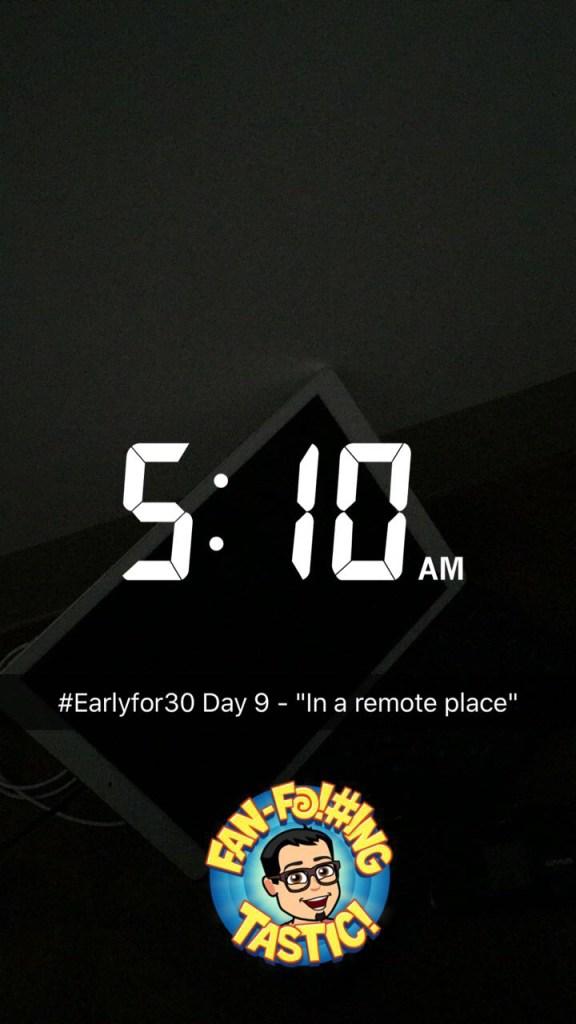 early wake up challenge