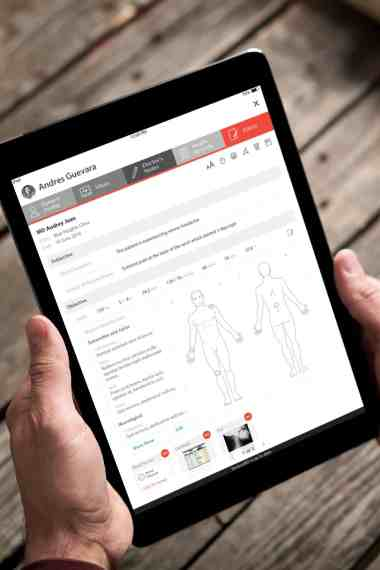 Access Patient Records Anytime Anywhere iPad (Super Hi-Res)