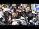 【韓国】徴用工像を設置しようとして暴動!の画像