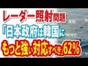 【レーダー照射問題】「日本政府は韓国にもっと強い対応すべき」62%【日経世論調査】の画像