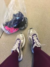Billiga skor som min man köpte när jag började springa. Ändå rätt bra.