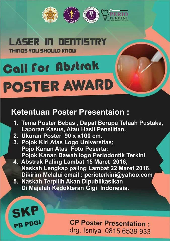 Call For Abstrak Poster Award Perio Terkini