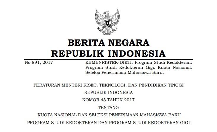 Permenristekdikti 43/2017