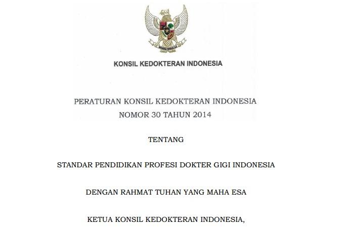 Peraturan Konsil Kedokteran Indonesia Nomor 30 Tahun 2014