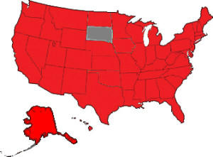 These are the states where Pi Dental Center patients come from