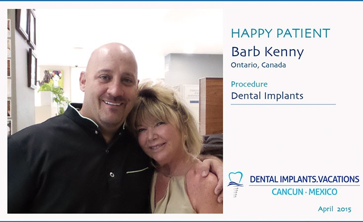 Happy patient at Dental Implant vacation