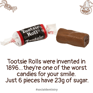 8 worst halloween candies for teeth tootsie rolls