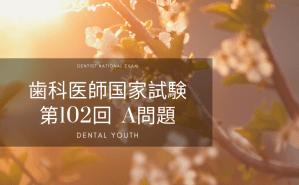 第102回 歯科医師国家試験:A問題