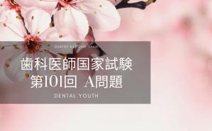 第101回 歯科医師国家試験:A問題
