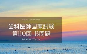 第110回 歯科医師国家試験:B問題