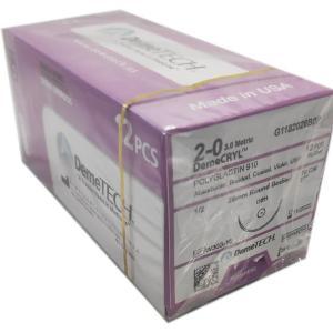 Hilo Sutura Ácido Poliglicólico 6-0 1/4 Doble 8mm 45cm