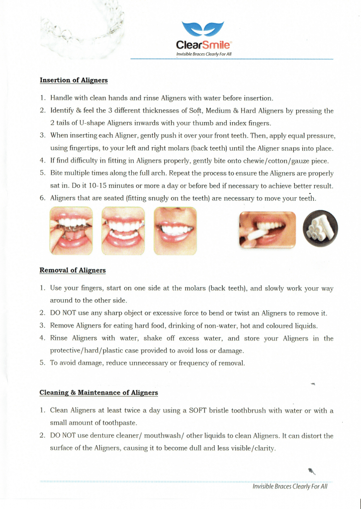 Visit Dental Clinic For Teeth Whitening Or Dental Implants Clearsmile Clear Aligner Patient Instructions Dentist