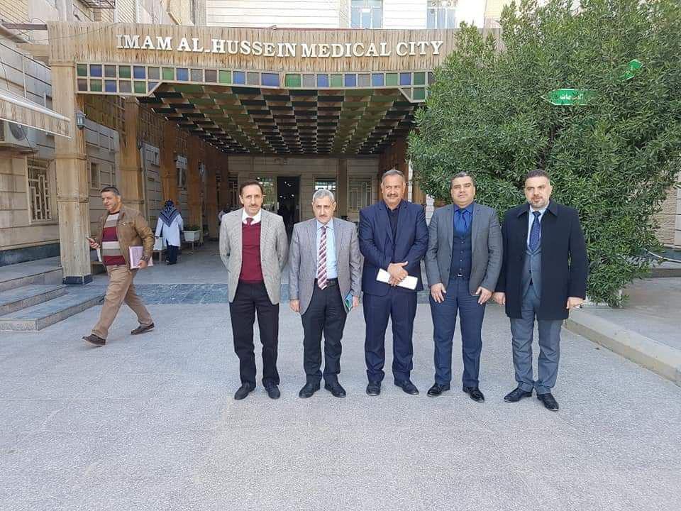 زيارة الأستاذ الدكتور ثائر عبد اللطيف رئيس لجنة التوصيف للمراكز التدريبية للمجلس العراقي