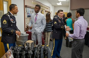 U.S. Army Dallas Medical Recruiting Center was among the organizations represented at the graduate and professional school seminar.