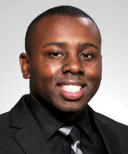 Junior Osinde, third-year dental student