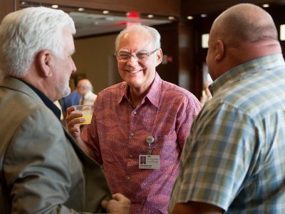 Dr. Dean Hudson during his June 30 retirement reception