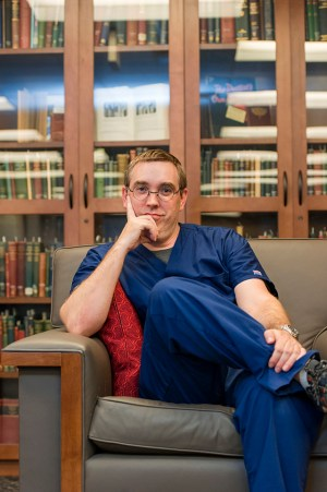 James Browning in the Baylor Health Sciences Library