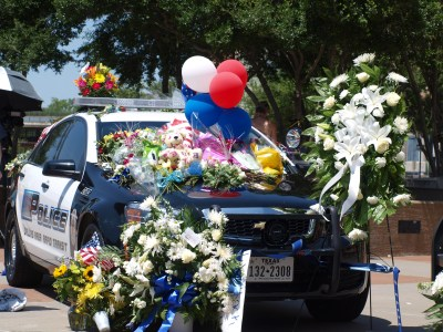Memorial Cars at Jack Evans Police Headquarters
