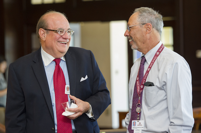 Dr. Benson and Dean Wolinsky