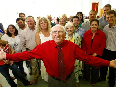 Friends, family and former patents gather at a May 17, 2008 birthday party for Cochran at Meadowbrook United Methodist Church. Fort Worth Star-Telegram/Ralph Lauer
