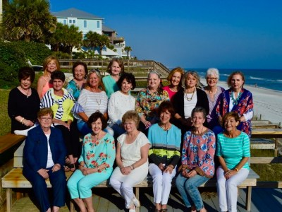 L to R, back: Janice Curry; Carolyn Phillips; Terry Miller; Frankie Lou Hansen; Judy Helbing; Jill Baker ; Cil Hein; Druann Andrecht; Sharon Jones; Maureen Calhoon; Lana Crawford; and Pam Wade