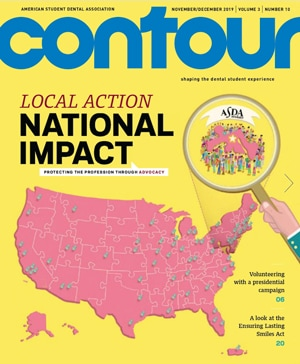 cover for contour magazine november 2019, local action, national impact
