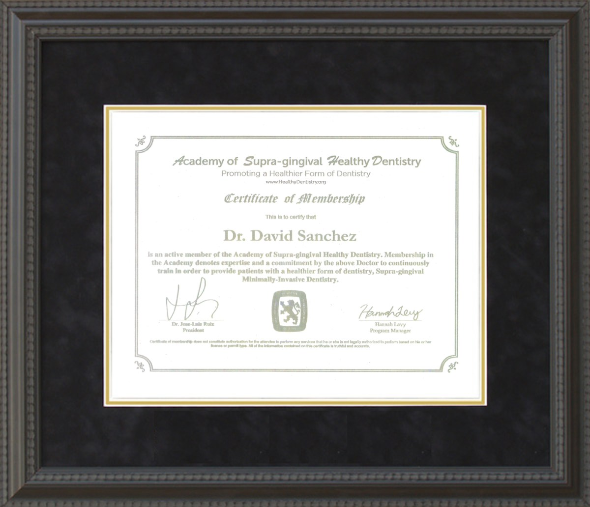 Supra-gingival, Minimally-Invasive Dentistry Certificate