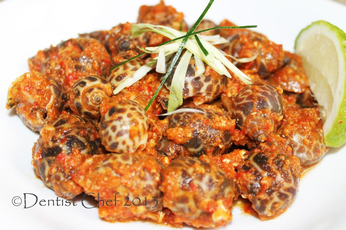 Sea Snail in Spicy Chili Sauce Recipe, Resep Kerang Macan