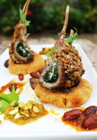 Pistachio Crusted Lamb Chop/Rack with Feta Cheese