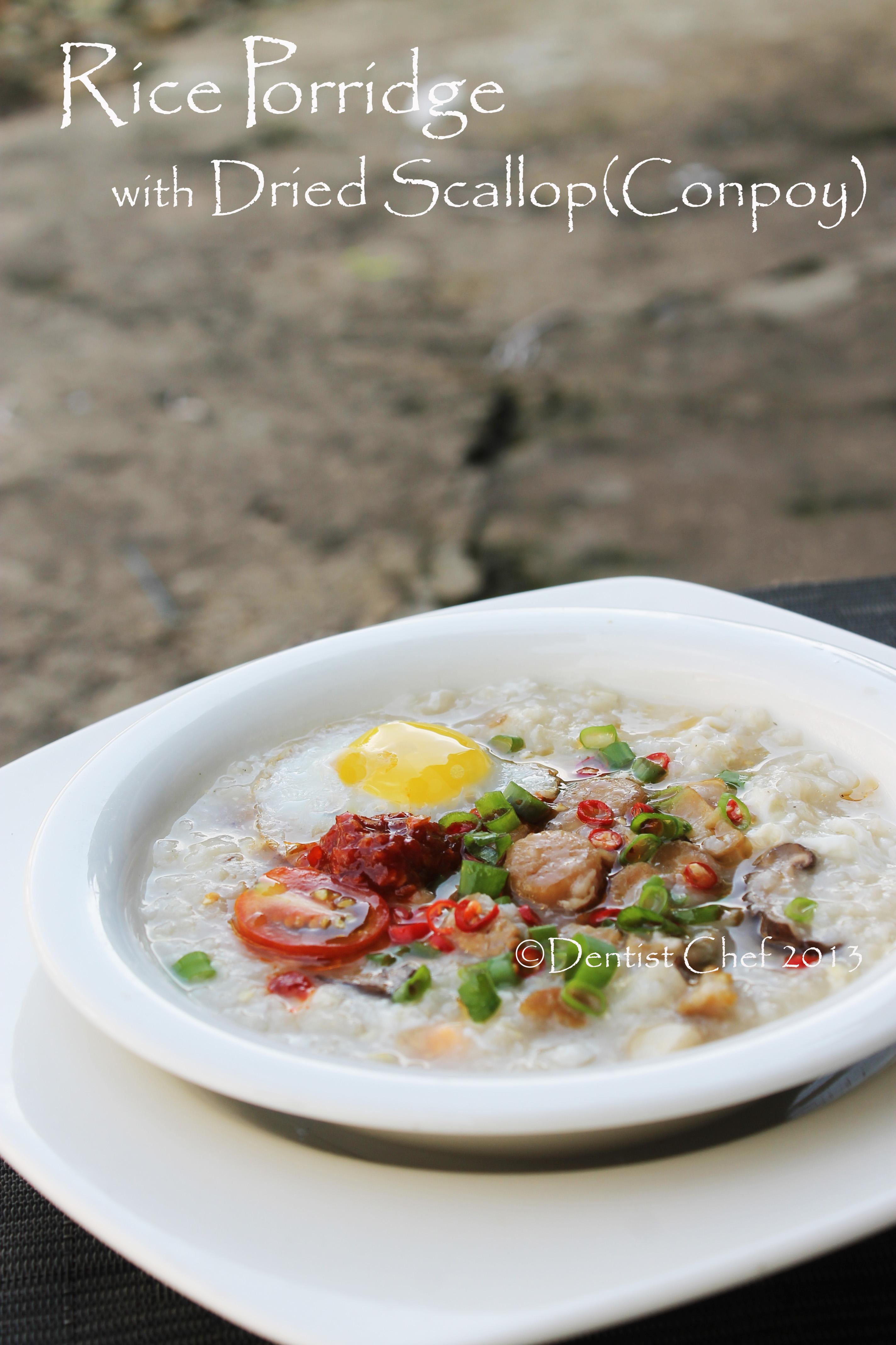 Scallop Itu Apa : scallop, Dried, Scallop, Porridge, Conpoy, Congee, Recipe, DENTIST