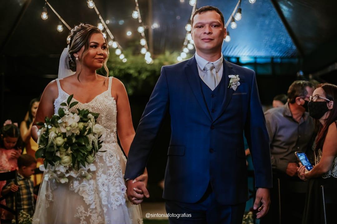 casamento no campo noturno