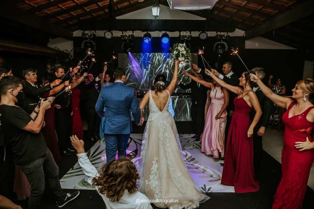 pista de dança dos noivos