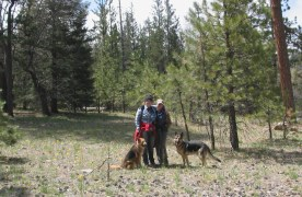 Alex, Felicia and Dogs on the Santa Ana River Trail