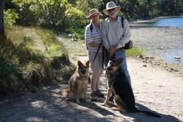 Alex, Jim and Dogs at Jenks Lake
