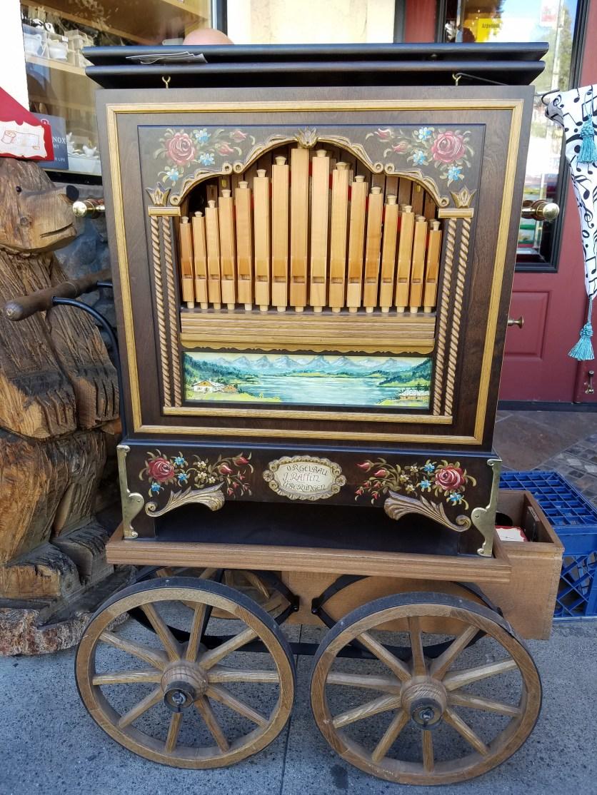 German-made crank organ detail