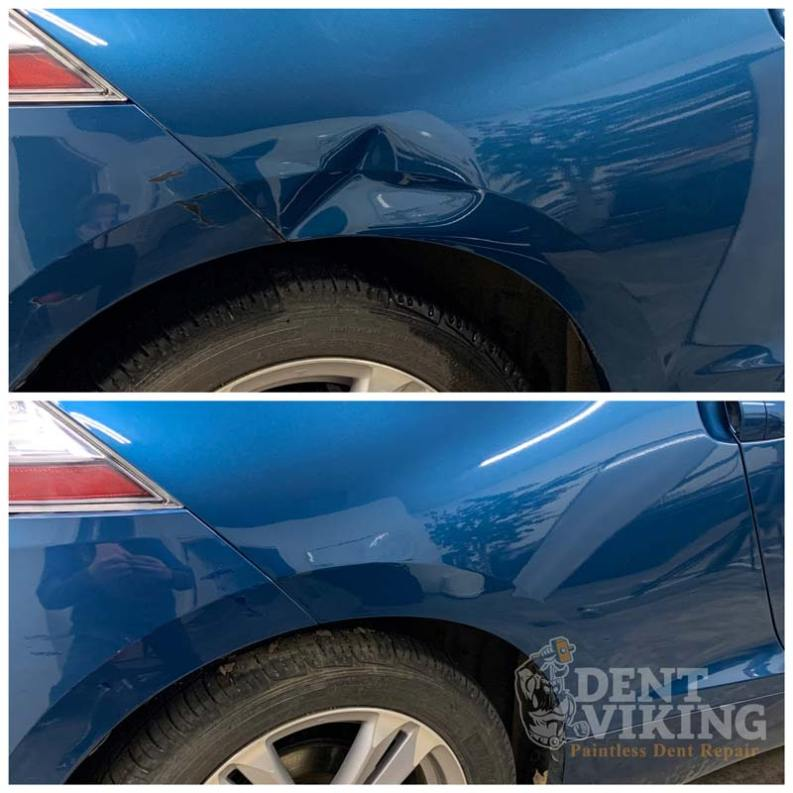 Paintless Dent Repair on Honda CRZ QPanel Dent in Post Falls