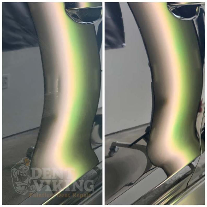 Paintless Dent Repair on Subaru Crosstrek Door Crease in Hayden