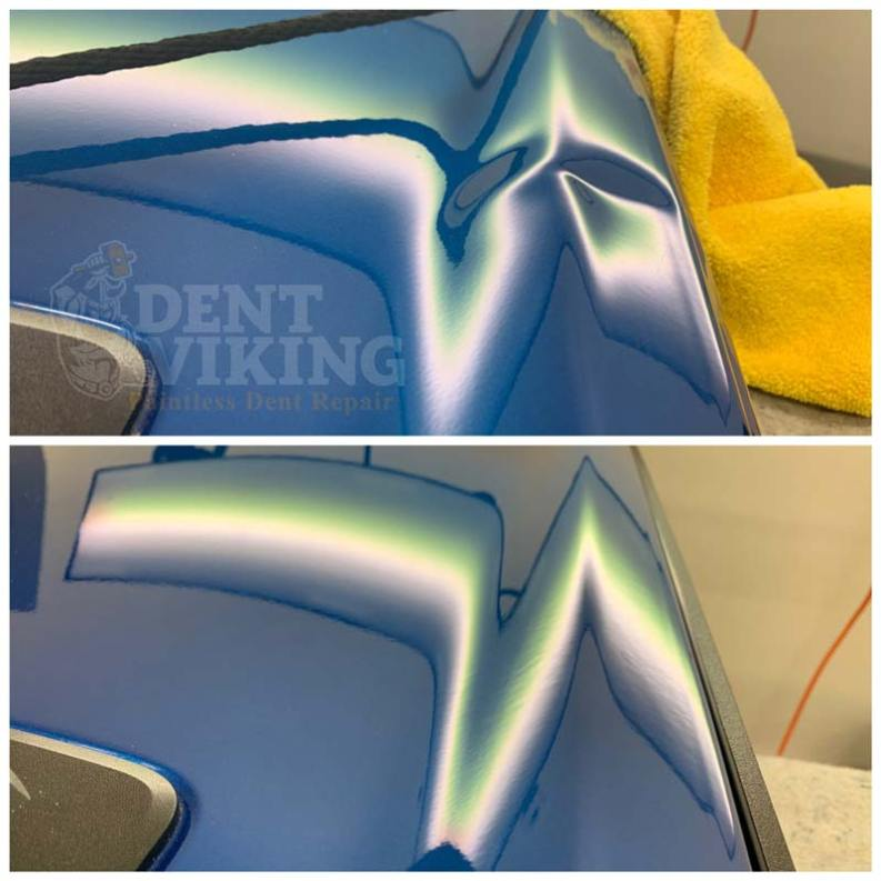 Paintless Dent Repair on Toyota Tundra Tailgate in Spokane