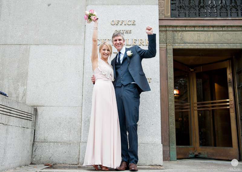 Laura  Paul  NYC Courthouse Wedding  Manhattan Marriage Bureau