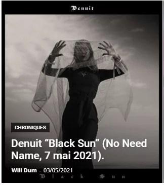 review denuit black sun album